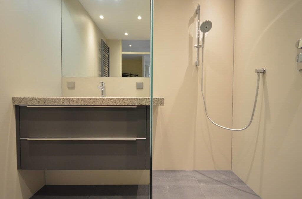 Kleine stijlvolle badkamer