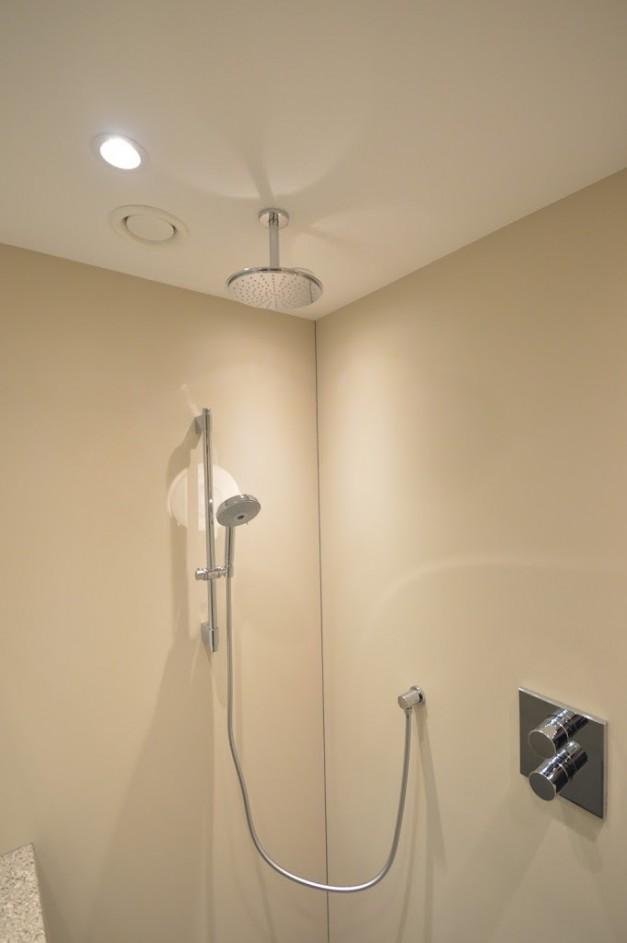 Kleine stijlvolle badkamer gp interieur idee - Idee badkamer m ...